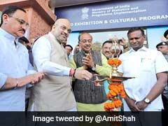 For 4-Year Anniversary Of Modi Government, Amit Shah Inaugurates Exhibition