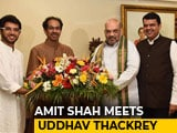 Video : As Amit Shah Meets Uddhav Thackeray, Sena Lines Up Some Uneasy Questions