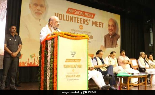 At BJP Social Media Workshop, Amit Shah Has Advice Against Fake Content