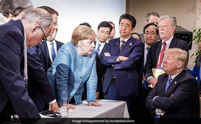 angela merkel pov g7 summit twitter