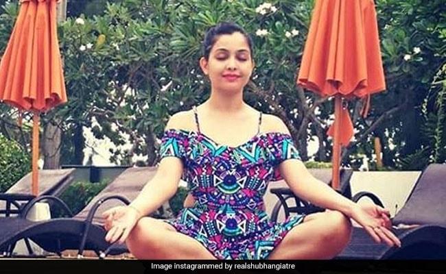 इंटरनेशनल योग दिवस पर अंगूरी भाभी ने कुछ ऐसे किया Yoga, शेयर की फोटो