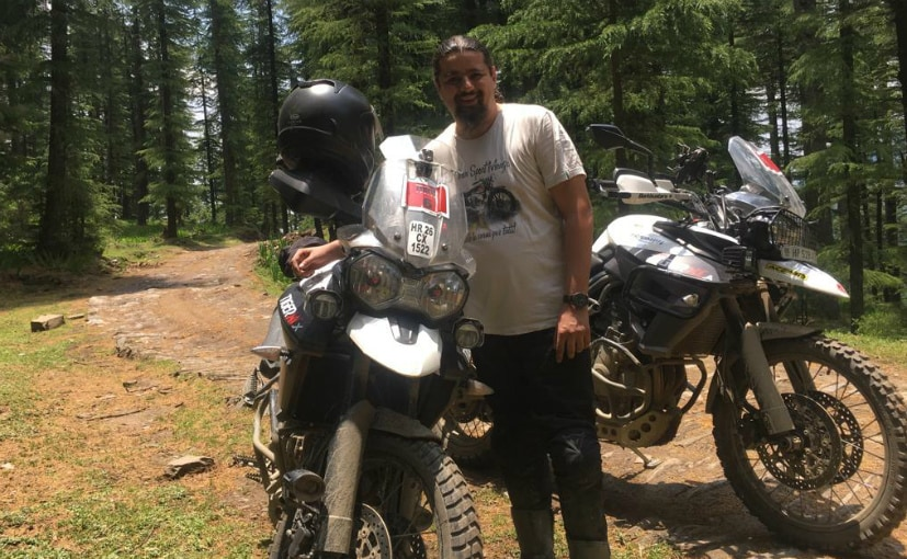 ankit wanchoo with his triumph tiger 800 xcx