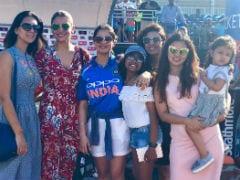 In Pics: Anushka Sharma, Sakshi Dhoni And Ziva Cheer For Team India