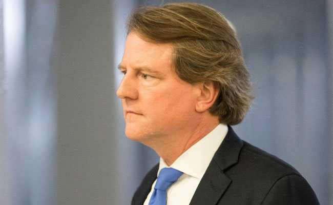 Donald Trump Says White House Counsel Don McGahn To Quit Soon