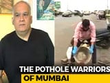 Video : In Mumbai, A Citizens' Campaign To Fill Potholes On City Roads