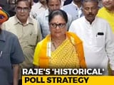 Video : Vasundhara Raje's Poll Strategy Has An Eye On History