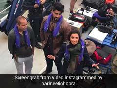अर्जुन कपूर ने परिणीति चोपड़ा को मारा धक्का, तो गुस्से में ऐसे दिया रिएक्शन- देखें वीडियो