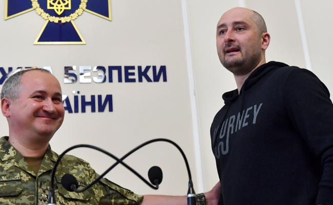 Russian Journalist Faked His Own Death, Ukraine's Security Chief Says