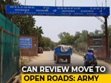 "Video : ""Calibrated Exercise"": Army On Row Over Opening Up Cantonment Roads"