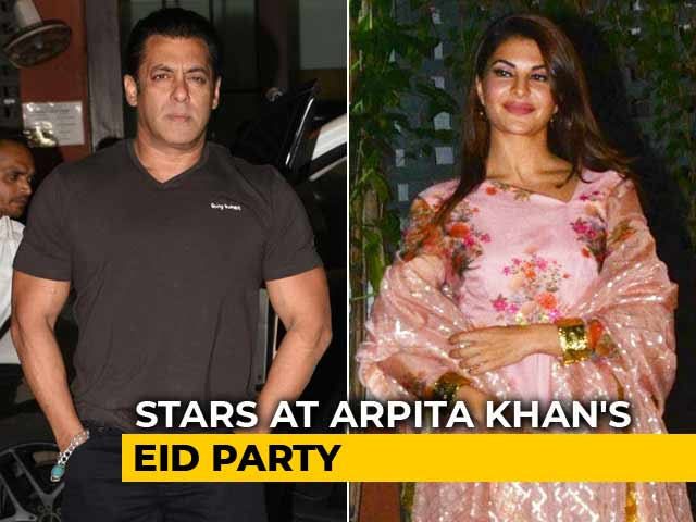 Salman, Jacqueline & Other Stars At Arpita Khan's Eid Party
