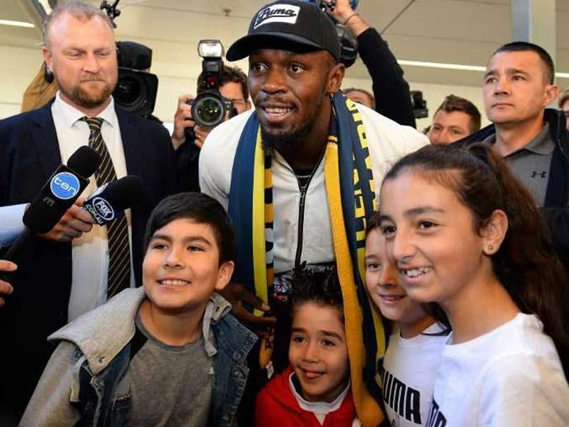 Sprint King Usain Bolt Arrives In Australia On Football Quest