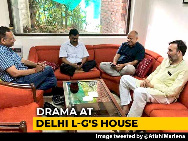 Video : Arvind Kejriwal On Protest Again, This Time In Lt Governor's Waiting Room