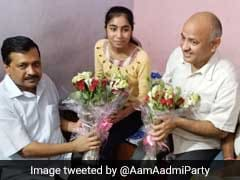 Arvind Kejriwal Visits Delhi CBSE Class 12 Exam Toppers At Their Homes