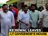 Video : Arvind Kejriwal Leaves Lt Governor's House, Delhi Deadlock Ends
