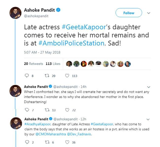 ashoke pandit tweet