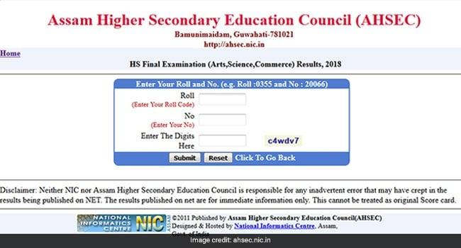 Assam AHSEC Result 2018 Declared: Live Updates