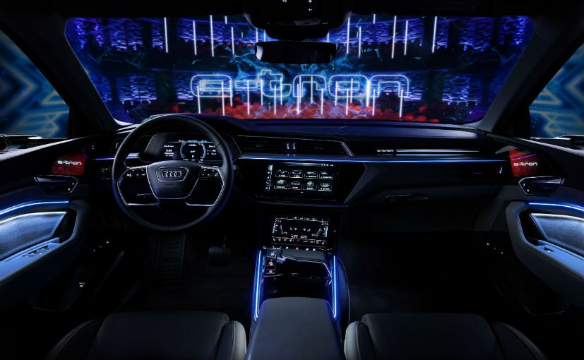 audi e tron 39 s high tech interior revealed ndtv carandbike. Black Bedroom Furniture Sets. Home Design Ideas