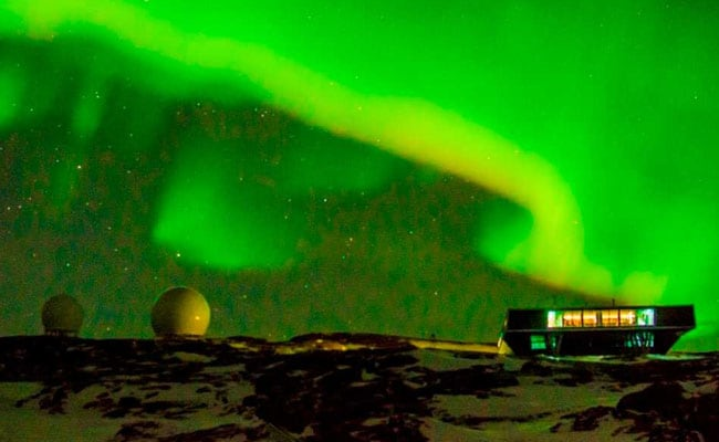 Stunning Southern Lights, Courtesy State-Of-The-Art Indian Antarctic Base