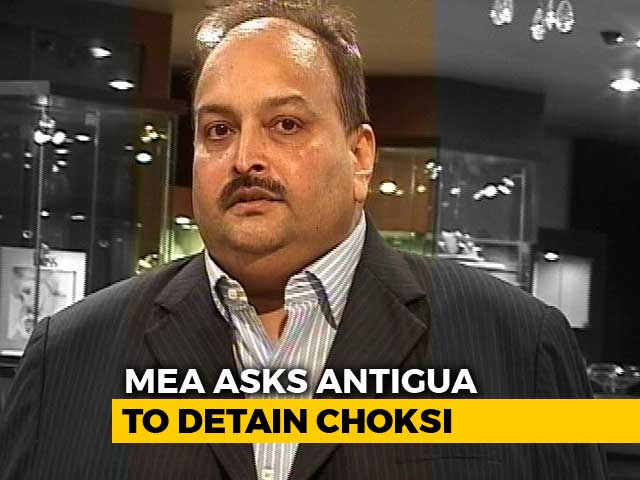 Video : Detain Mehul Choksi, No Interpol Notice Needed, Ministry Tells Antigua