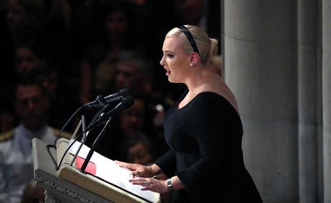 At John McCain Memorial Service, Daughter Slams Trump's 'Cheap Rhetoric'