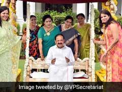 Hariyali Teej: Vice President M Venkaiah Naidu Celebrates Teej In Delhi