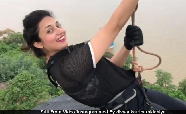Divyanka Tripathi Dahiya And Her Mom Neelam Zipline In Bhopal. Seen Their Video Yet?