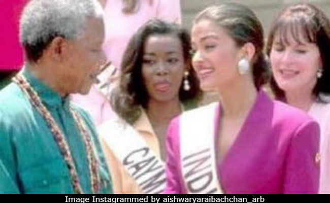 Aishwarya Rai And Amitabh Bachchan Post Pics With Nelson Mandela On 100th Birth Anniversary