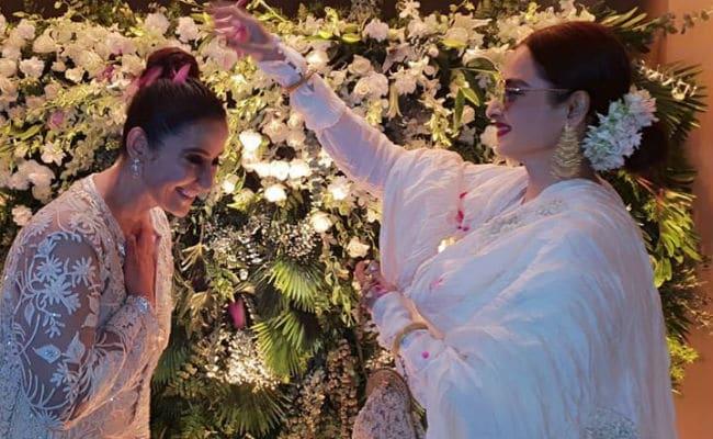 Rekha, Shah Rukh Khan, Maanyata At Manisha Koirala's White-Themed Birthday Party