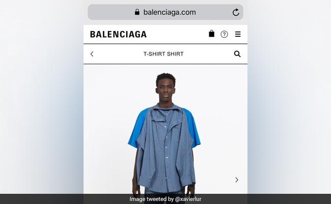Shirt Or T-Shirt? Luxury Label Balenciaga Trolled For Bizarre Garment