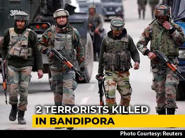 Video : 2 Terrorists Killed In Jammu And Kashmir's Bandipora