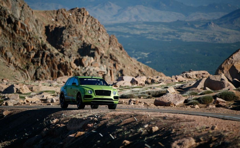 bentley bentayga pikes peak hill climb 2018