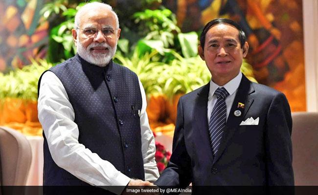 BIMSTEC Summit 2018: Prime Minister Narendra Modi Meets Myanmar President