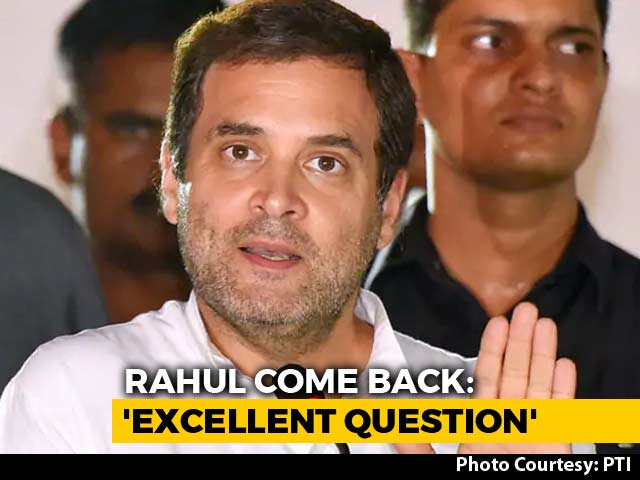 "Video : ""Excellent Question, Nitin Gadkari,"" Said Rahul Gandhi. What He Meant"