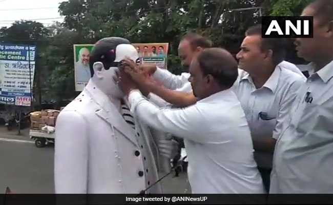Statue Of BR Ambedkar 'Purified' With Milk After BJP Leader Garlanded It