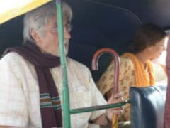 Shweta Bachchan, Making Her Acting Debut, Takes An Auto Ride With Dad Amitabh Bachchan