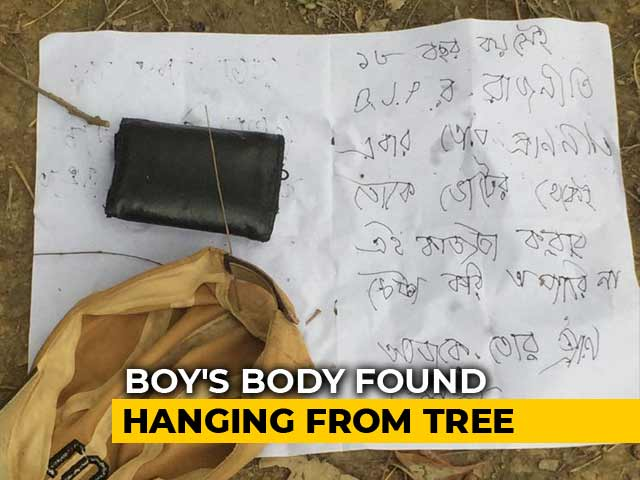 """Video : """"Today You're Dead"""": BJP Man Found Dead In Bengal, Chilling Note On Shirt"""
