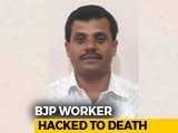 Video : BJP Worker Hacked To Death By Men On Motorbike In Karnataka's Chikmagalur