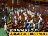 Video : BJP Lawmakers Walk Out Of Karnataka Assembly Ahead Of Trust Vote