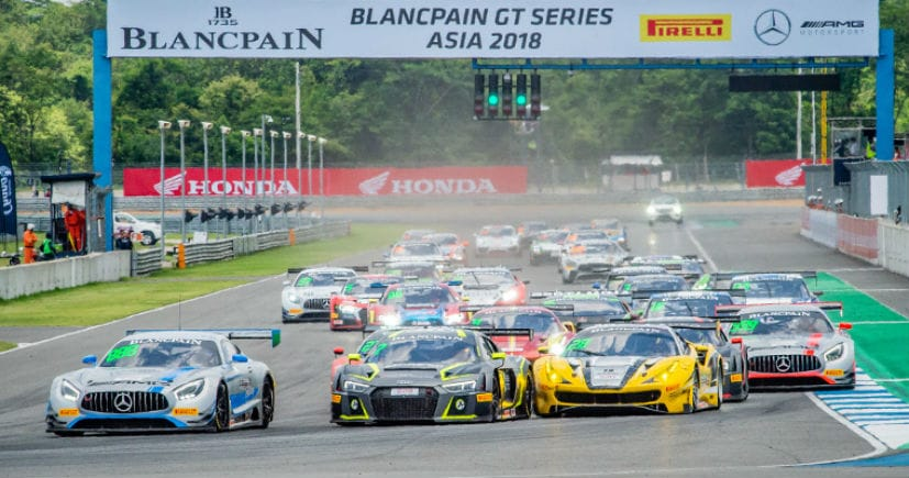 blancpain gt series asia 2018 round 2