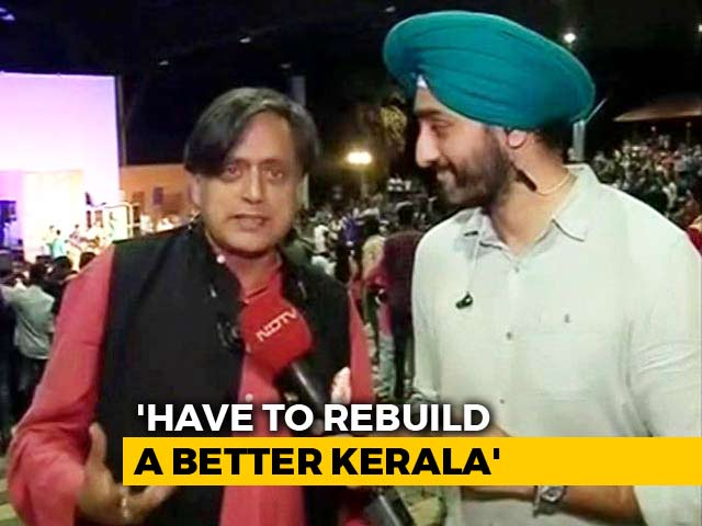 Video: Shashi Tharoor Urges All Of India To Come Together And Help Kerala