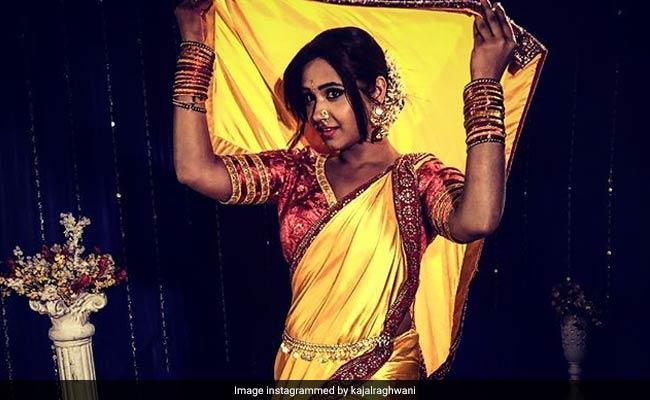 भोजपुरी एक्ट्रेस काजल राघवानी ने पहनी मराठी साड़ी, फैन्स का आया ये रिएक्शन
