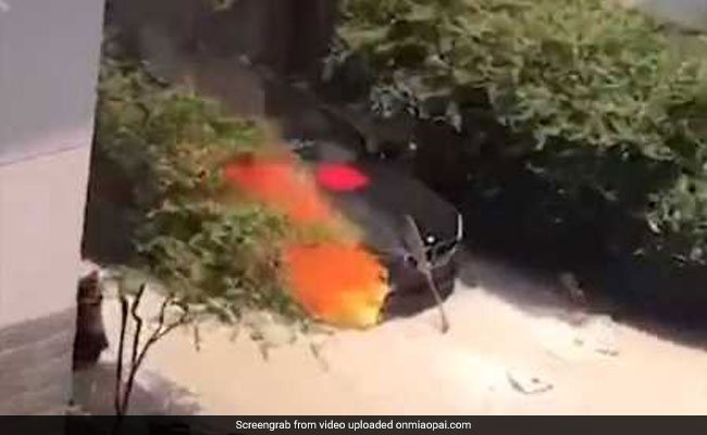 Man Lights Incense Sticks Near New BMW, Burns Luxury Car To A Crisp