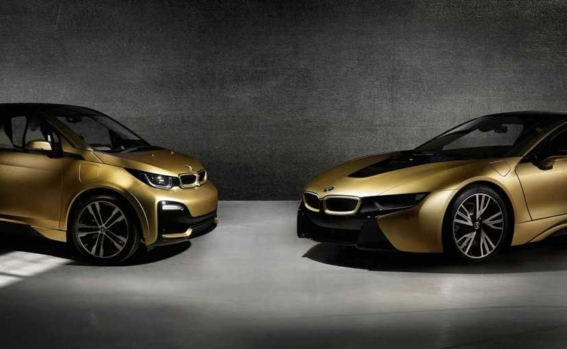 BMW i3s And i8 Starlight Edition Shine In A 24-Carat Gold Dust