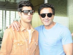 Bobby Deol's Son Aryaman Is A Reluctant Poser. See Pics Of Them At The Airport