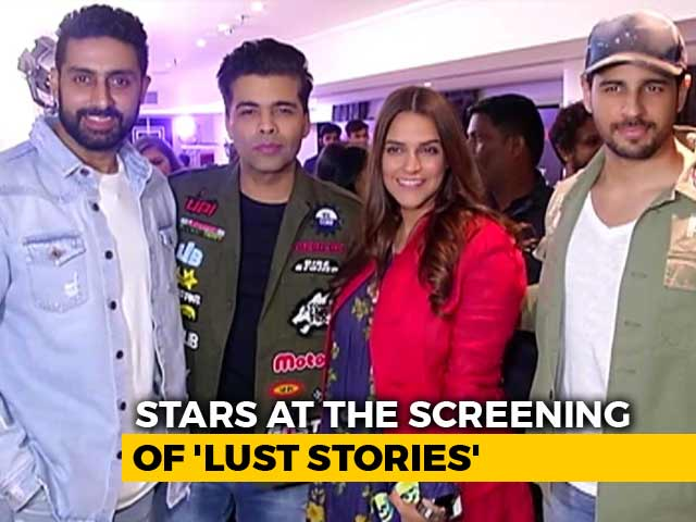 Karan Johar, Abhishek Bachchan & Other Stars At The Screening Of Lust Stories