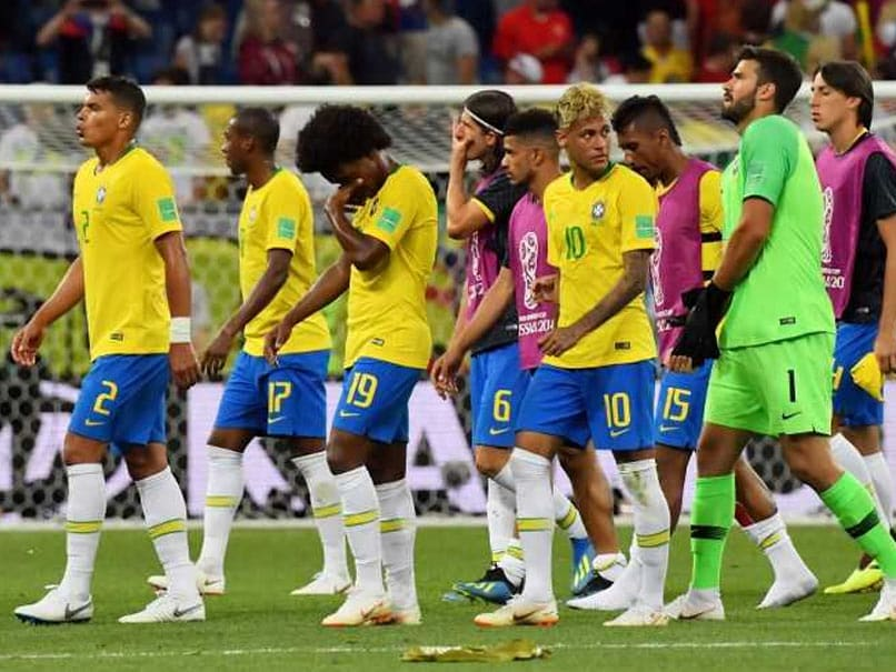 Brazil Manager Falls Over In Hilarious Last Minute Goal Celebrations