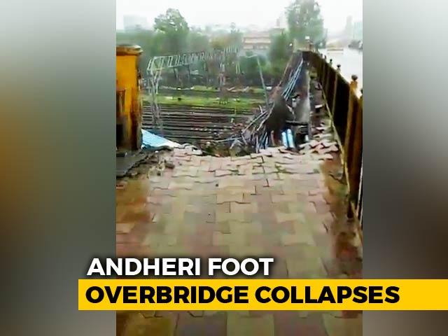 Video : Bridge Collapses At Mumbai's Andheri Station, 6 Injured