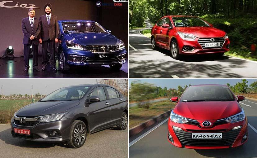 2018 Maruti Suzuki Ciaz Facelift Vs Rivals: Spec Comparison