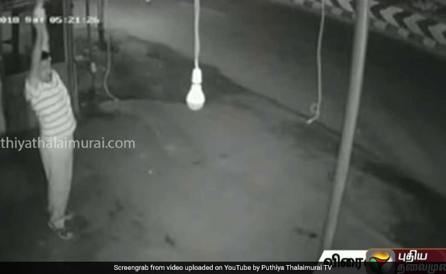 Coimbatore Man Pretends To Exercise, Only To Steal A Bulb. Watch