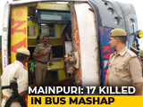 Video : 17 Dead, 12 Injured After Speeding Bus Hits Divider, Overturns In UP